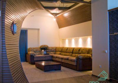 Фотография гостиной зоны в дизайн проекте