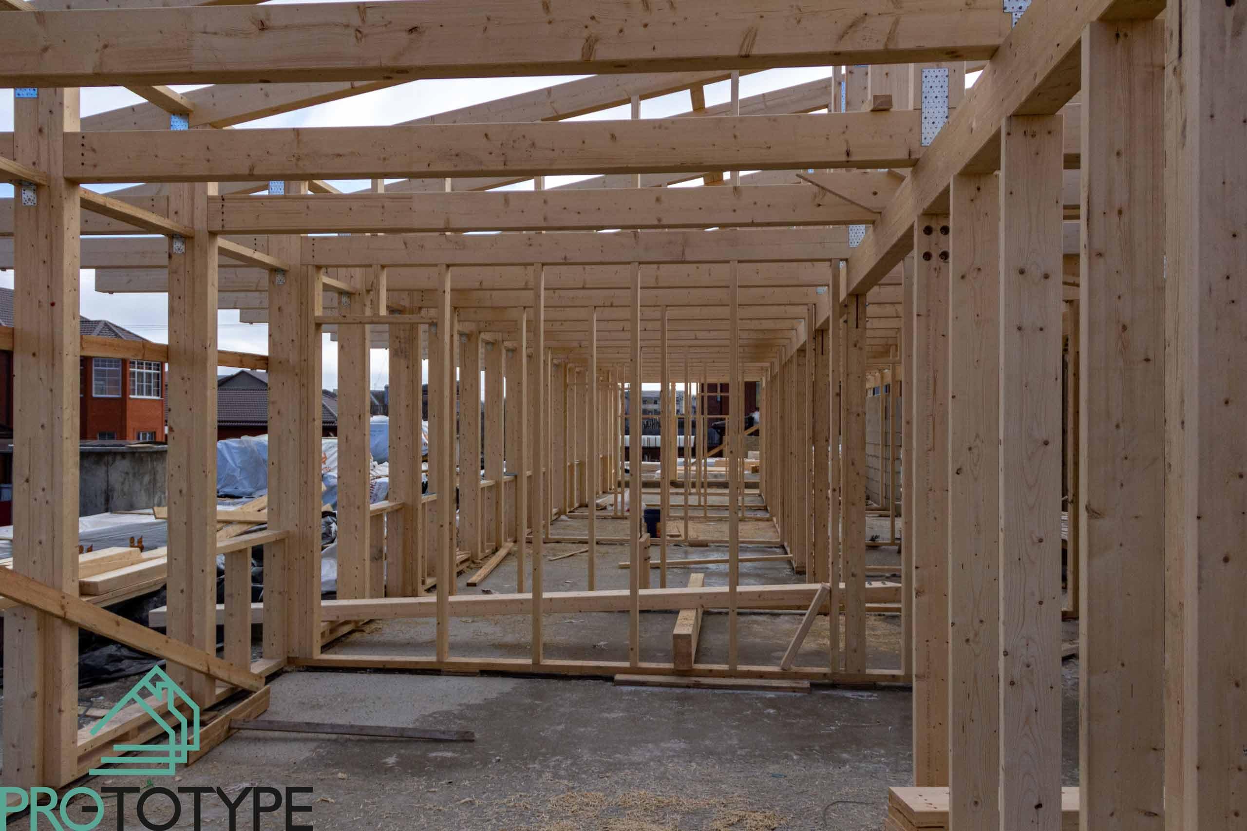 Строительство второго этажа из каркаса деревянного