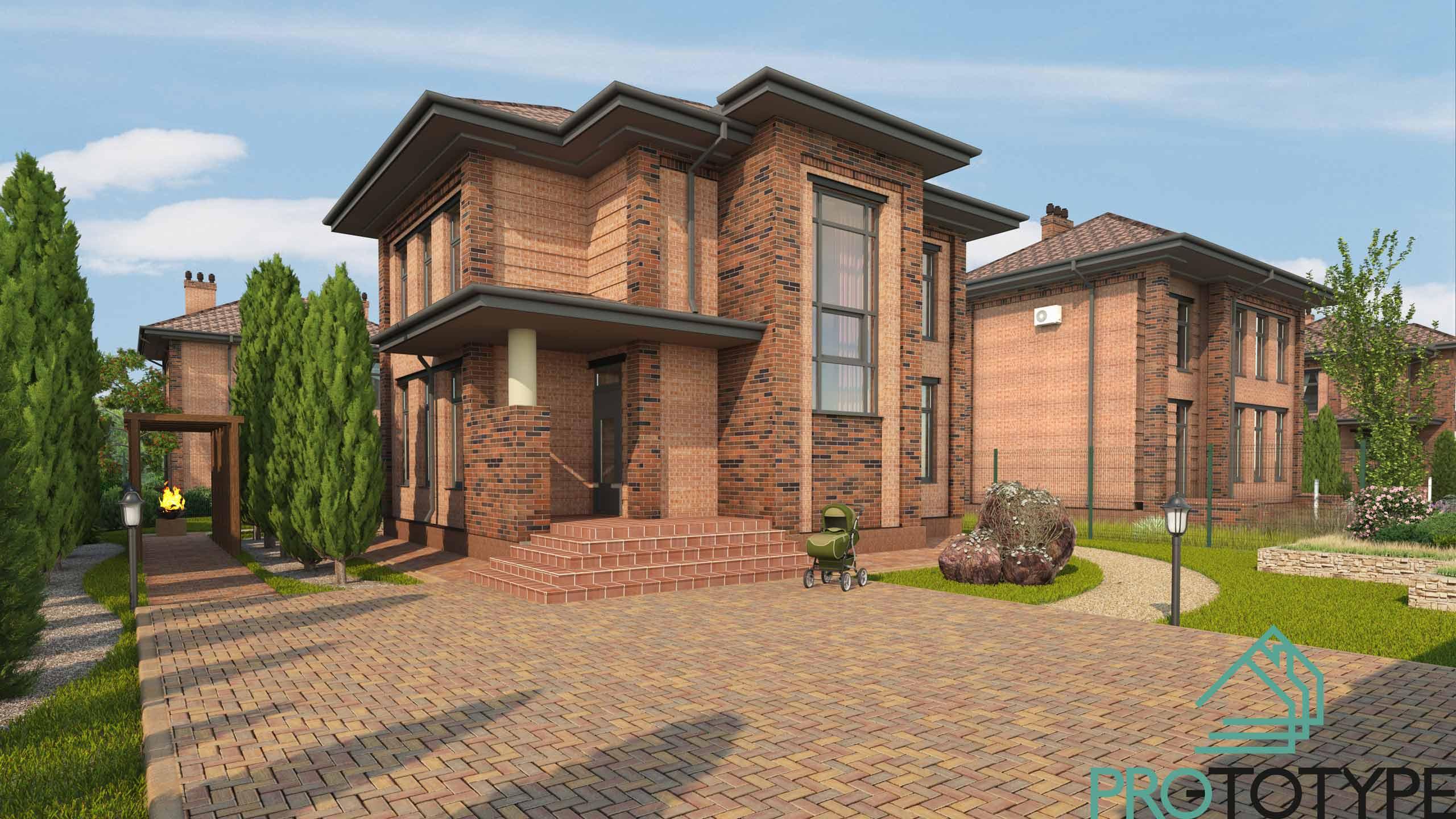 Небольшой двухэтажный проект дома