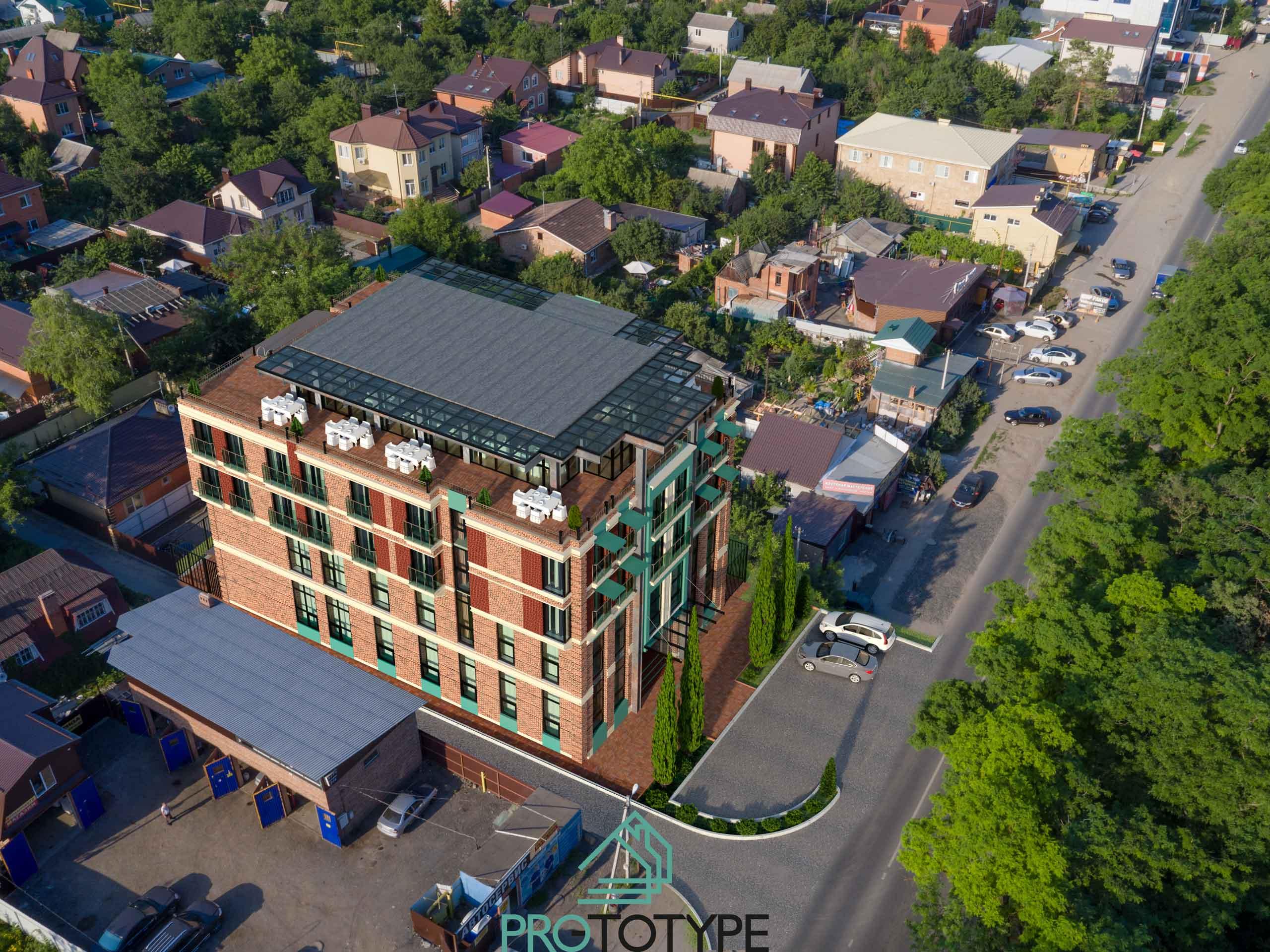 Проект Гостиницы с рестораном на крыше