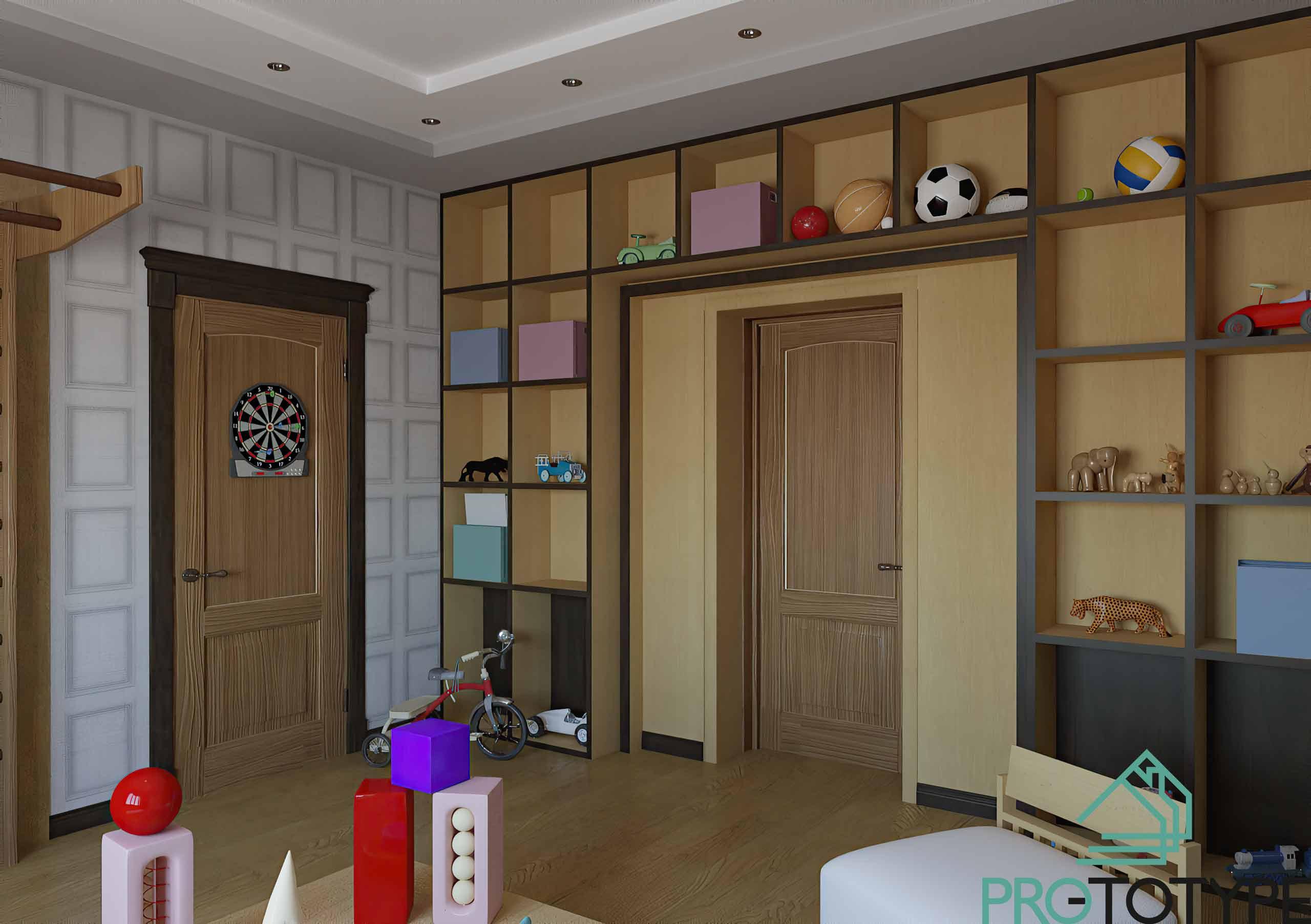 Игровая комната в частном доме