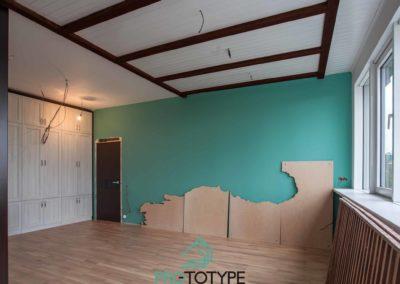 Монтаж декоративной стены из фанеры по проекту