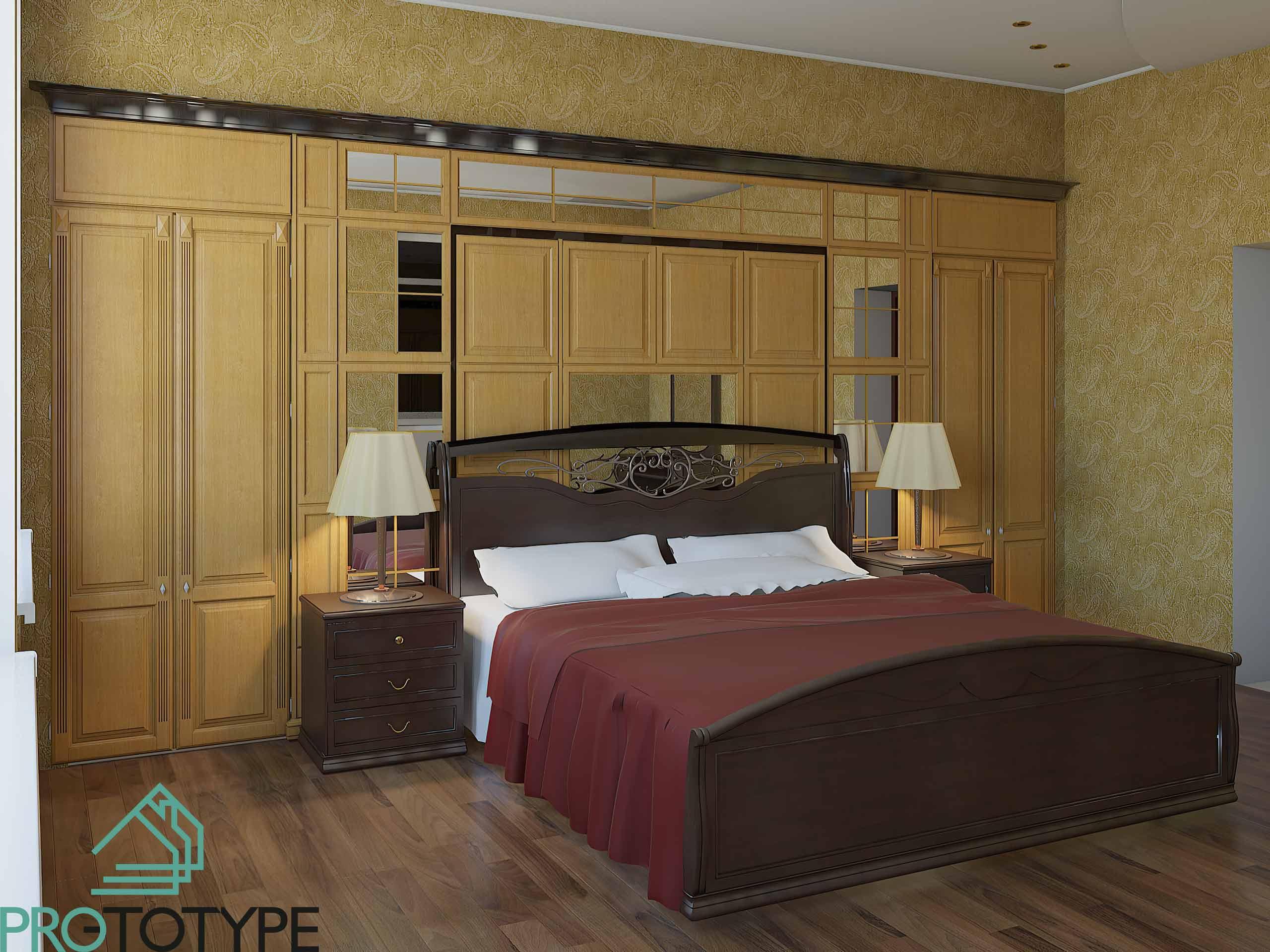 Визуализация мастер-спальни в классическом стиле