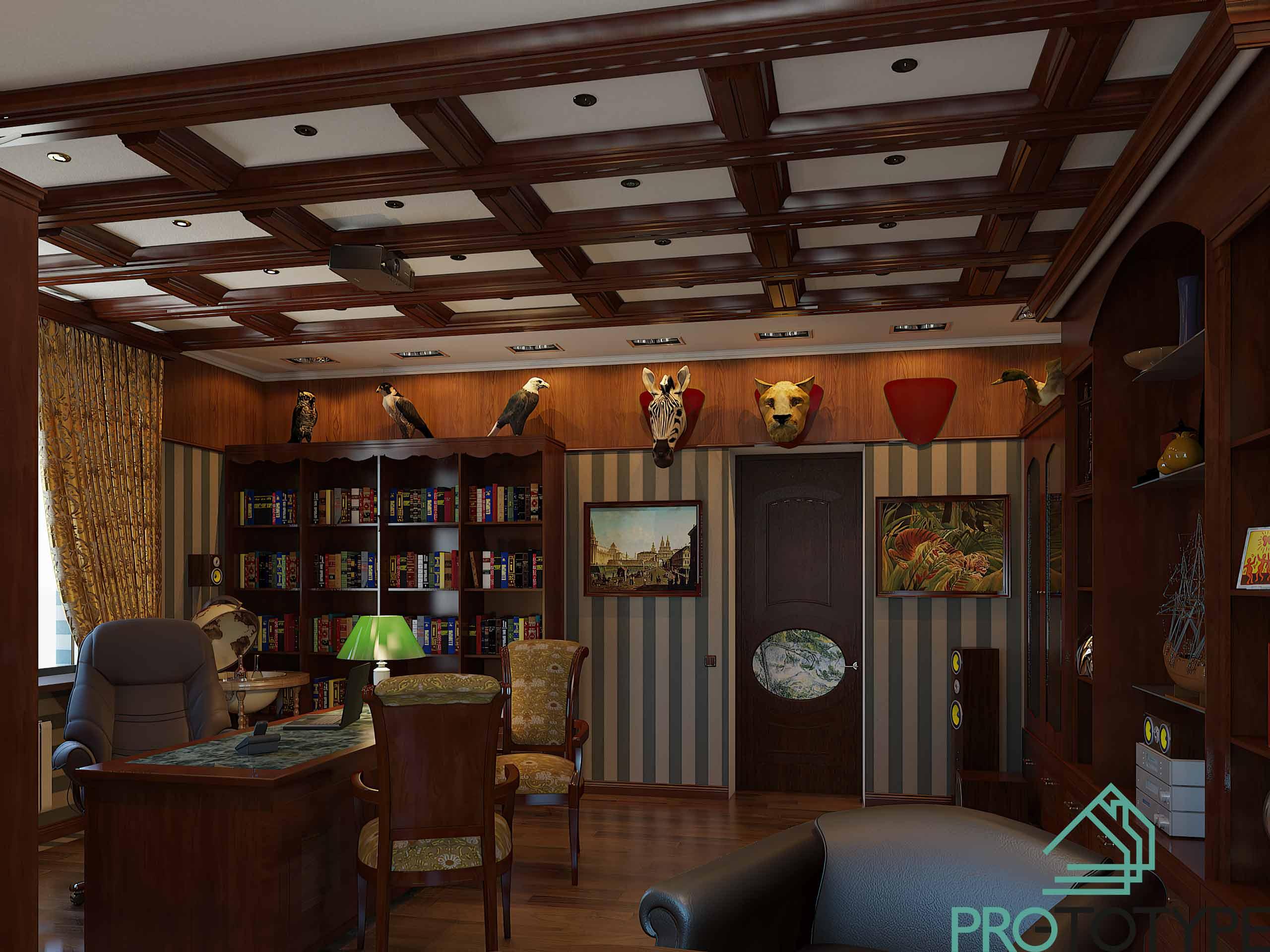 Общий вид на классический кабинет