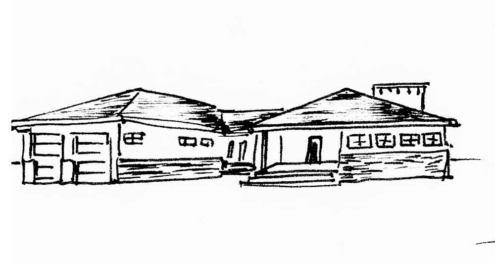 Архитектурный стиль ранчо или кантри