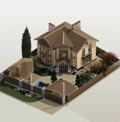 Превью Как правильно разместить дом на участке