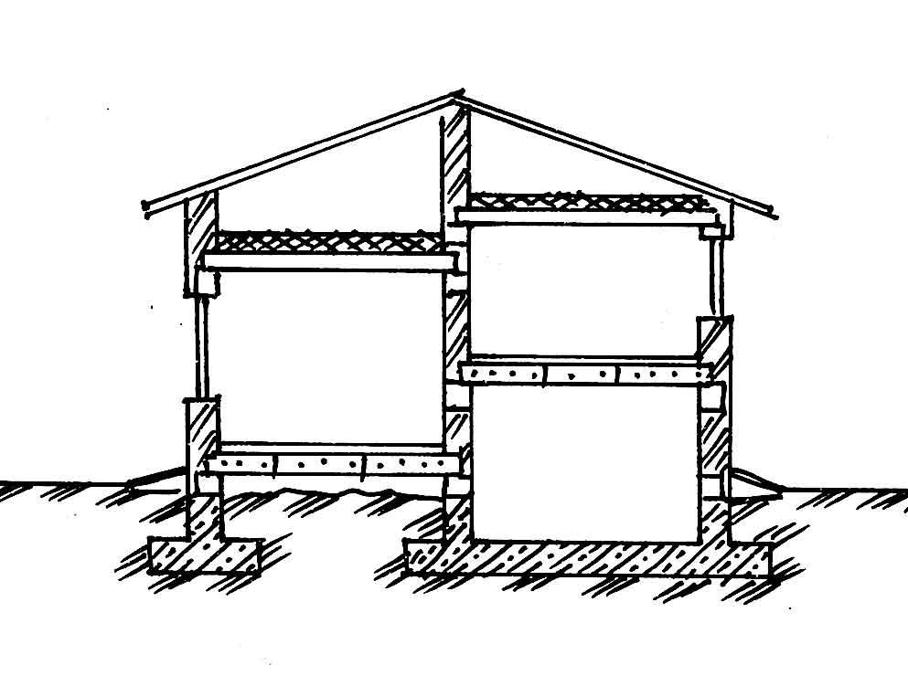 Проекты домов с разными уровнями
