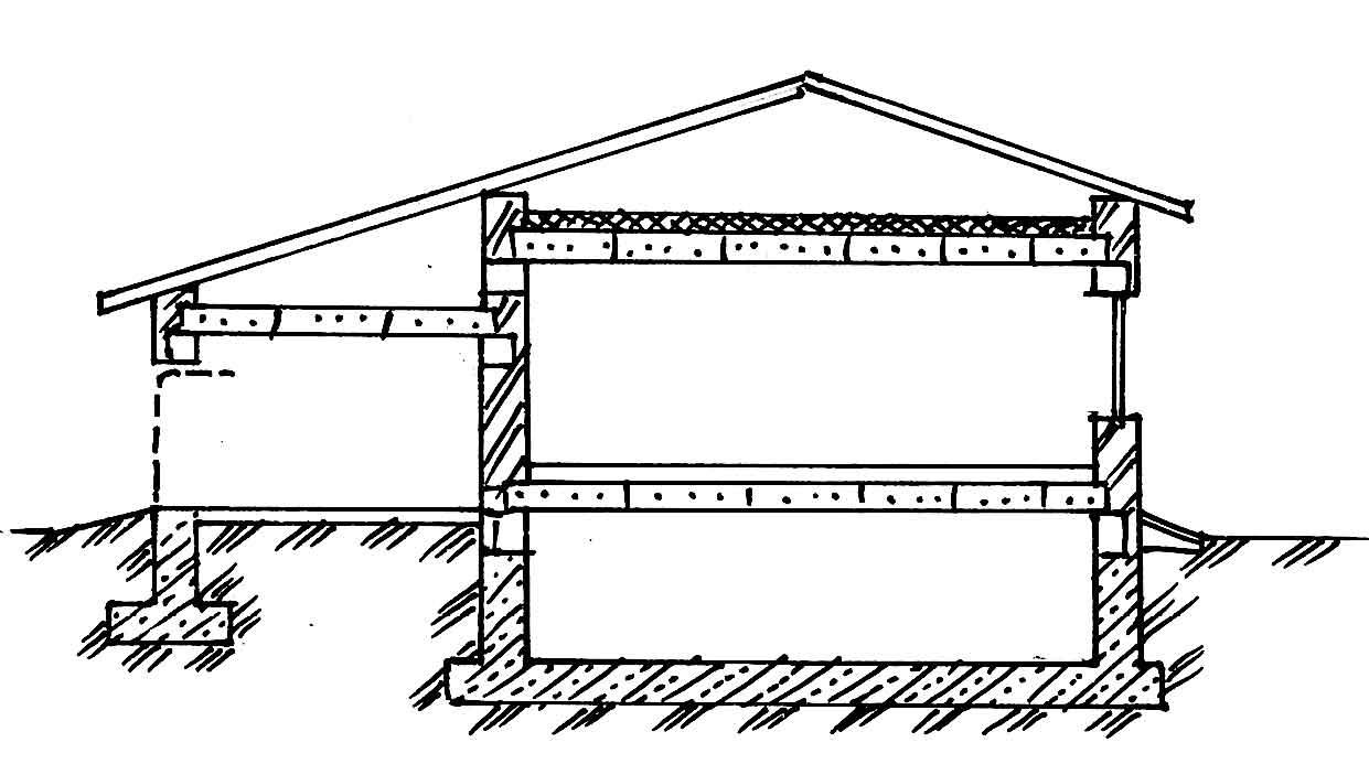 Проект дома с гаражом или верандой